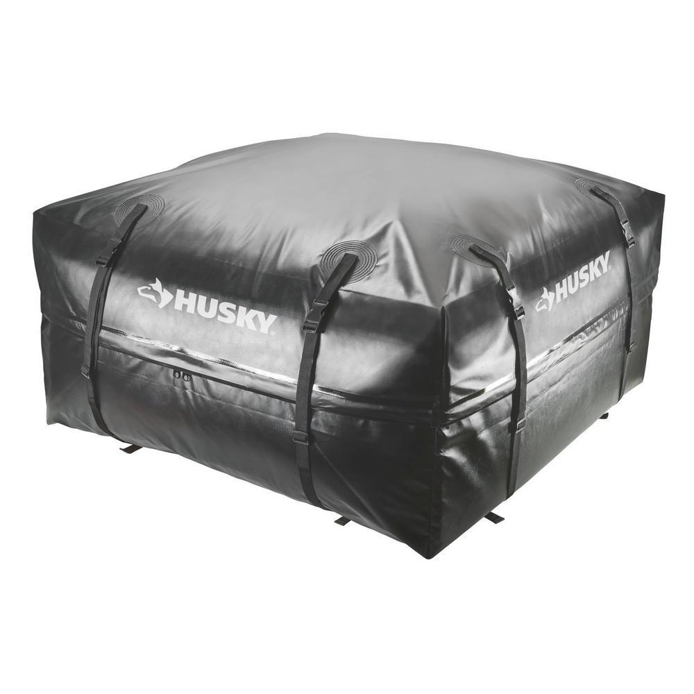 Husky Waterproof Roof Rack Cargo Carrier Storage Travel Bag - 15 cubic feet by Husky