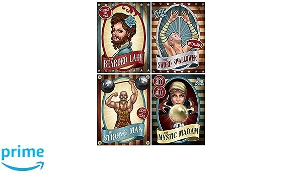 Generique - 4 Carteles de Circo Vintage 38 cm: Amazon.es: Juguetes ...