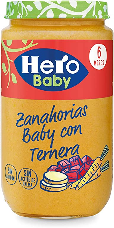 Hero Baby - Zanahorias Baby Delicias De Ternera 235 gr - Pack de 6 (Total 1410 gr): Amazon.es: Alimentación y bebidas