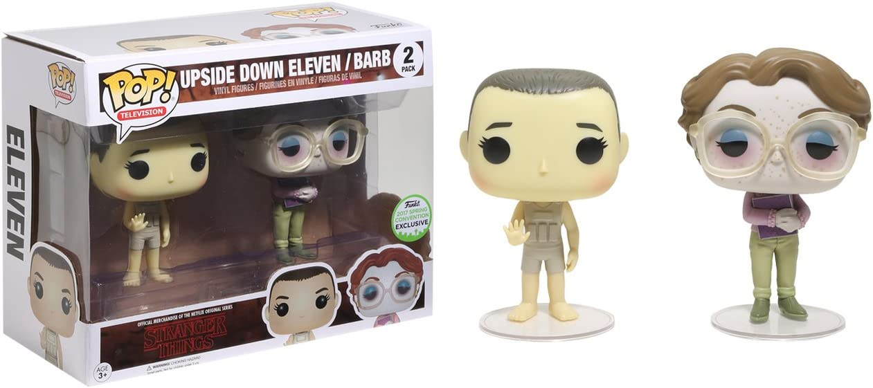 Pack 2 Figuras Pop! Stranger Things Upside Down Eleven & Barb ECCC 2017 Exclusive: Amazon.es: Juguetes y juegos