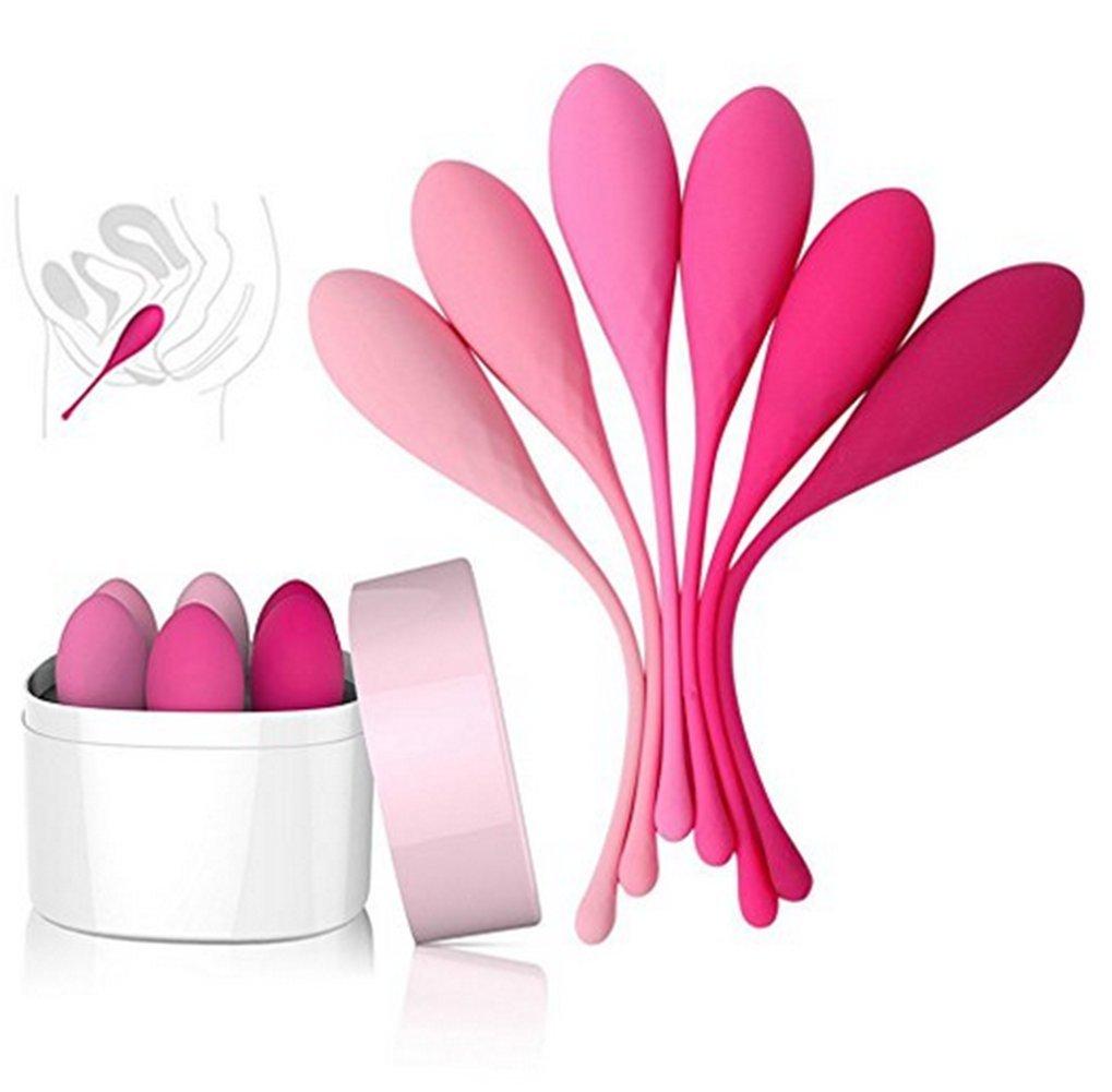 Guiixnwei Beads for Exercise controlar - Ejercicios para controlar Exercise la vejiga y el perineo - Set de 6 Kegel Premium Silicone Beads para mujeres con incontinencia, juguetes eróticos para mujeres 44ec93