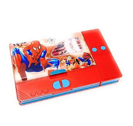 Disney & Marvel Plastic Pencil Box In Princess, Cinderella, Spider-Man and  Avengers Characters for Kids (Multicolour)
