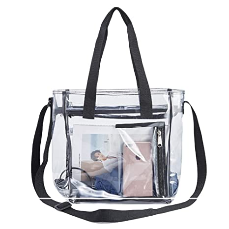 Yorssley Clear Tote Bag Stadium Clear Plastic Totes for Stadium Events