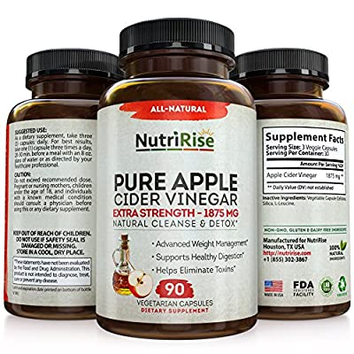 Apple Cider Vinegar - 90 Vegetarian Capsules - Extra Strength