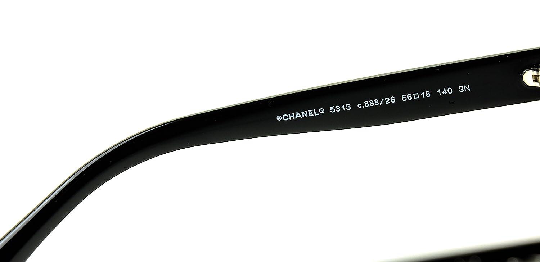 Amazon.com: anteojos de sol Chanel 5313 Color 888/26 negro ...
