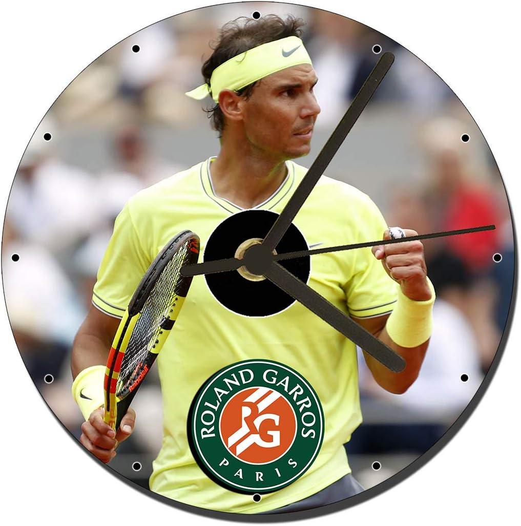 Rafa Nadal Roland Garros - Reloj de CD (12 cm): Amazon.es: Hogar