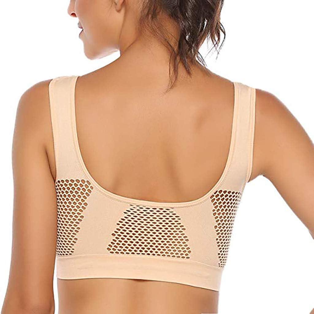 chenJBO 2pcs Womens Seamless Comfy Bra Breathable Sport Yoga Bra Full-Support Everday Running Bra Anti-Sagging