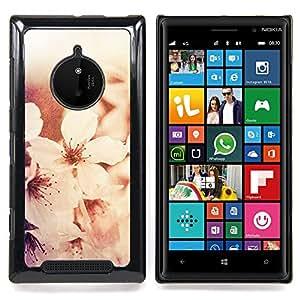 Stuss Case / Funda Carcasa protectora - Flores blancos Sol Luz - Nokia Lumia 830