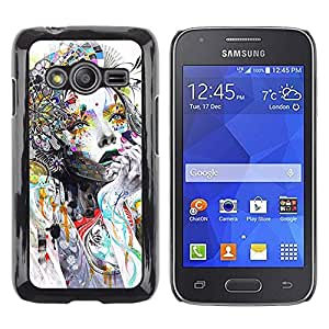 Be Good Phone Accessory // Dura Cáscara cubierta Protectora Caso Carcasa Funda de Protección para Samsung Galaxy Ace 4 G313 SM-G313F // Woman Colorful Abstract Style