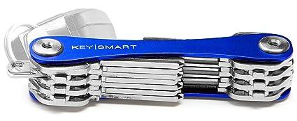 KeySmart Extended | Compacto llavero y organizador (2-22 llaves, azul)