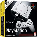 Playstation Classic Console with 20 Classic Playstation Games Pre-Installed Holiday Bundle, Includes Final Fantasy VII, Grand Theft Auto, Resident Evil Director's Cut and More (Renewed)