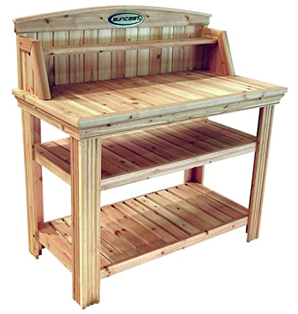 Phenomenal Amazon Com Cedar Potting Table Garden Outdoor Interior Design Ideas Grebswwsoteloinfo