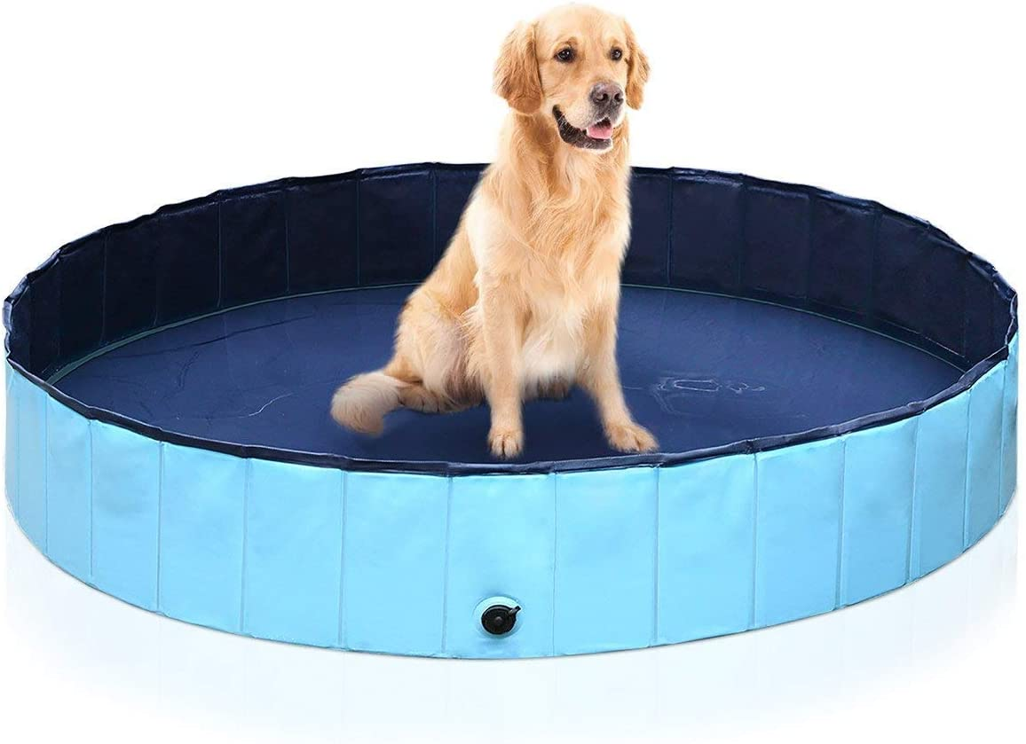 isYoung Dog Bath Pool Foldable PVC Pet/Baby Playing Pool (48inch x 12inch)