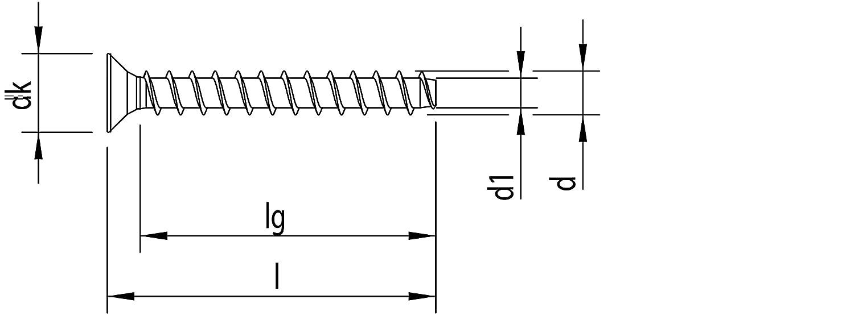 MULTI-MONTI-plus Betonschraube blau verzinkt Senkkopf mit TX 12,0x120-25 St/ück