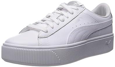 2580a4290 Amazon.com   PUMA Women's Vikky Stacked Sneaker, White Whit, 10.5 M ...