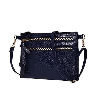 Sale Clearance Women Handbags Halijack Ladies Fashion Zipper PU Leather Shoulder  Bag Casual Mini Cellphone Wallet Travel Purse Satchel Tote Messenger Bag ... abcc5c773085d