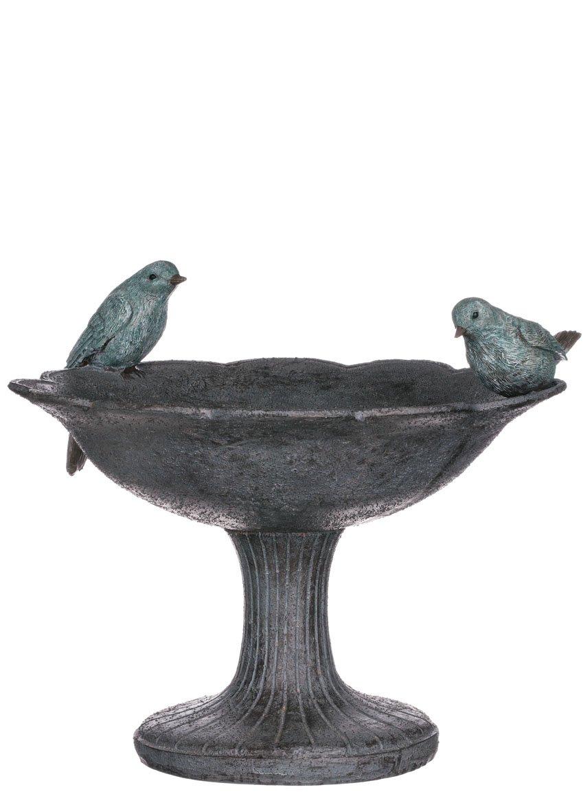 Sullivans Lovely & Unique 11.5x10'' Birdbath with 2 Birds Perched on Edge