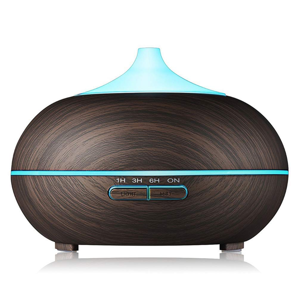 Sun Vale Cool Mist Humidifier 300ml Wood Grain USB Ultrasonic Aroma Essential Oil Diffuser for Office Bedroom Living Room