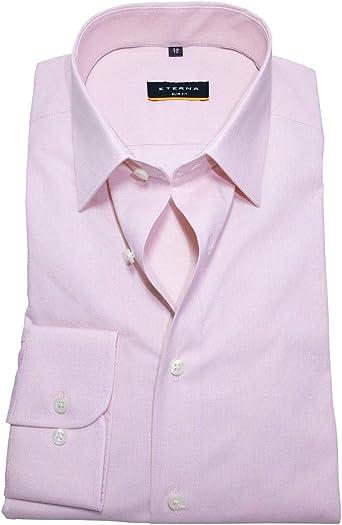 Eterna - Camisa de manga larga Slim Fit Stretch rosa ...
