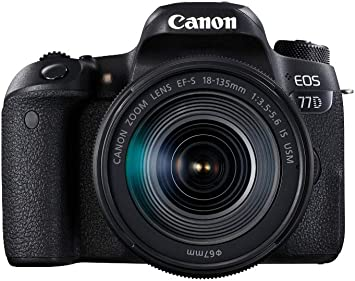 Canon EOS 77D - Cámara réflex de 24.2 MP (vídeo Full HD, WiFi, Bluetooth) color negro - kit cuerpo con objetivo EF-S 18-135 IS USM