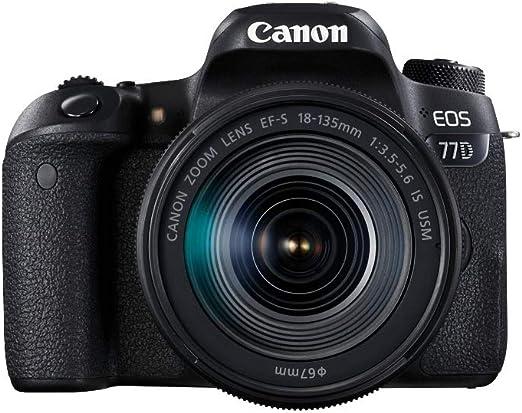 Canon EOS 77D - Cámara réflex de 24.2 MP (vídeo Full HD, WiFi ...
