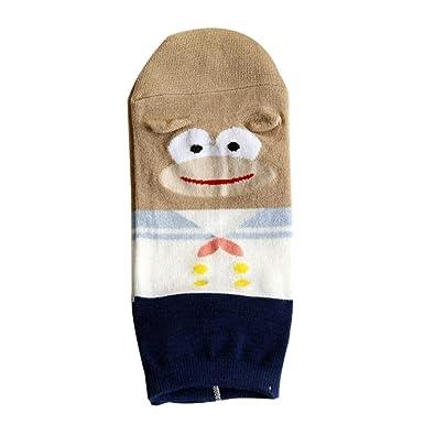 Foruu - Calcetines de algodón cálido y suave para mujer, diseño de animales de dibujos animados: Amazon.es: Hogar