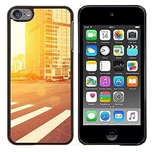 TECHCASE---Cubierta de la caja de protección para la piel dura ** Apple iPod Touch 6 6th Touch6 ** --Resplandor de la calle