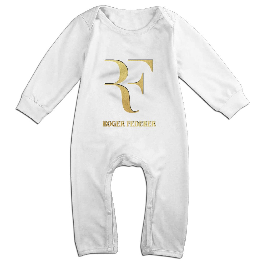 TYUI Cute Roger Federer Bodysuit for Newborn Baby White