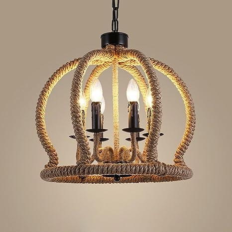 redondas hängend jaula Diseño - Lámpara de techo retro ...