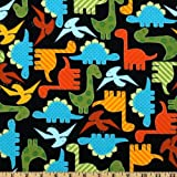 Robert Kaufman Urban Zoologie Dinosaurs Bright Fabric By The Yard