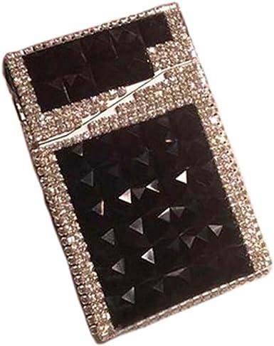 Fancy Pumpkin Elegante caja de cigarrillos de la caja de cigarrillo de cigarrillo de la moda de la caja de cigarrillo de la caja creativa del cigarro del negro, negro: Amazon.es: Ropa