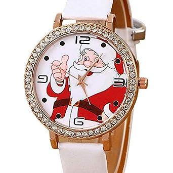 Scpink 2018 Reloj de Cuarzo para Mujer, Liquidación Navidad Papá Noel Relojes analógicos Relojes de