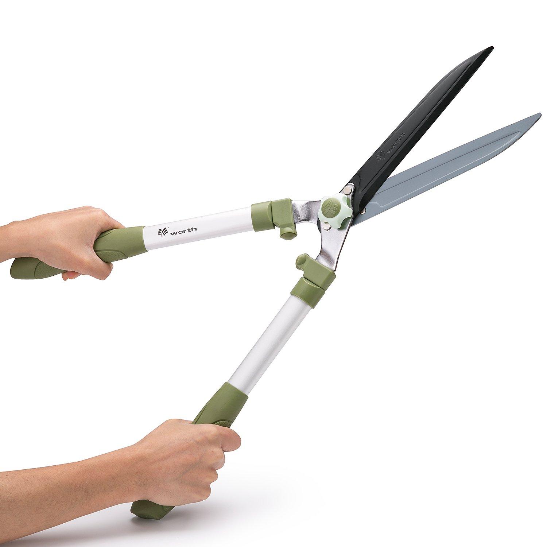 Lightweight Teflon Anti-rust Blade Hedge Shear,25 inches Gardening Pruning Shear with Ergonomic Handle