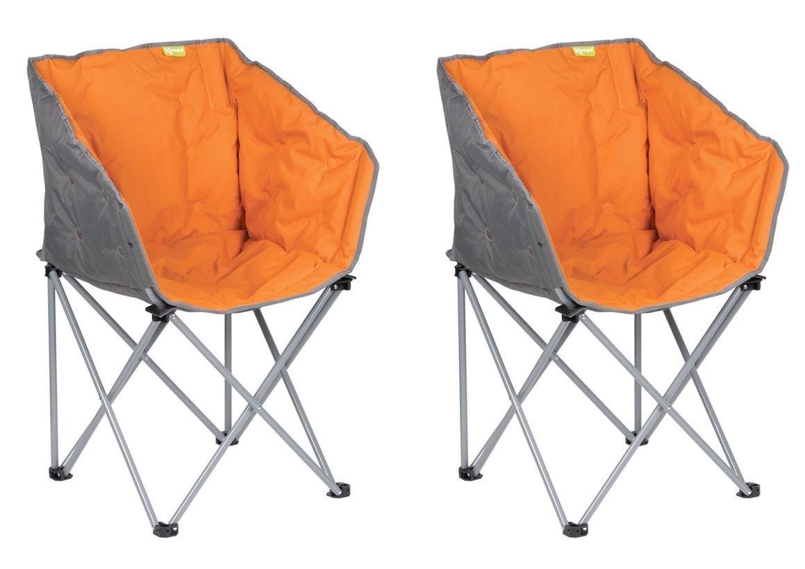 2 x Kampa Tub Stuhl – Burnt Orange