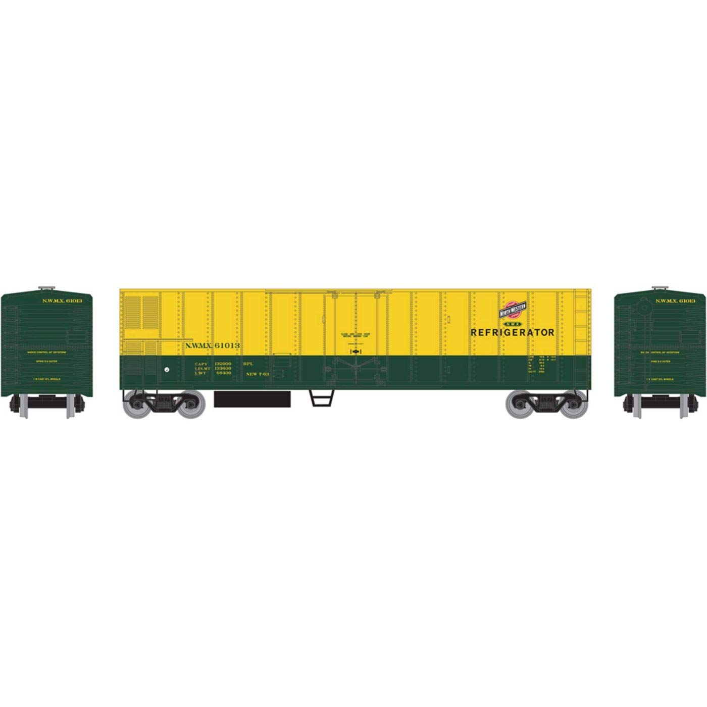 Athearn HO 50' Smooth Side Mechanical Reefer C&NW #61013, RND71662