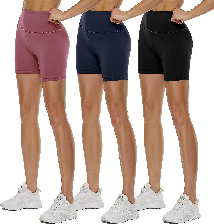 QGGQDD 3 Pack High Waisted Biker Shorts for Women – 5