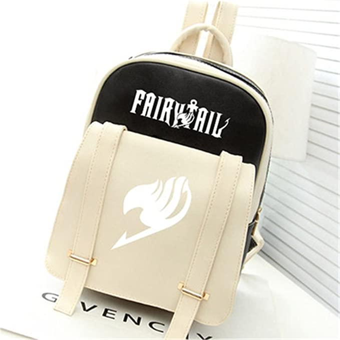 47593de81ca Siawasey® Fairy Tail Anime Natsu Dragneel Cartoon Backpack Shoulder School  Bag (Black)