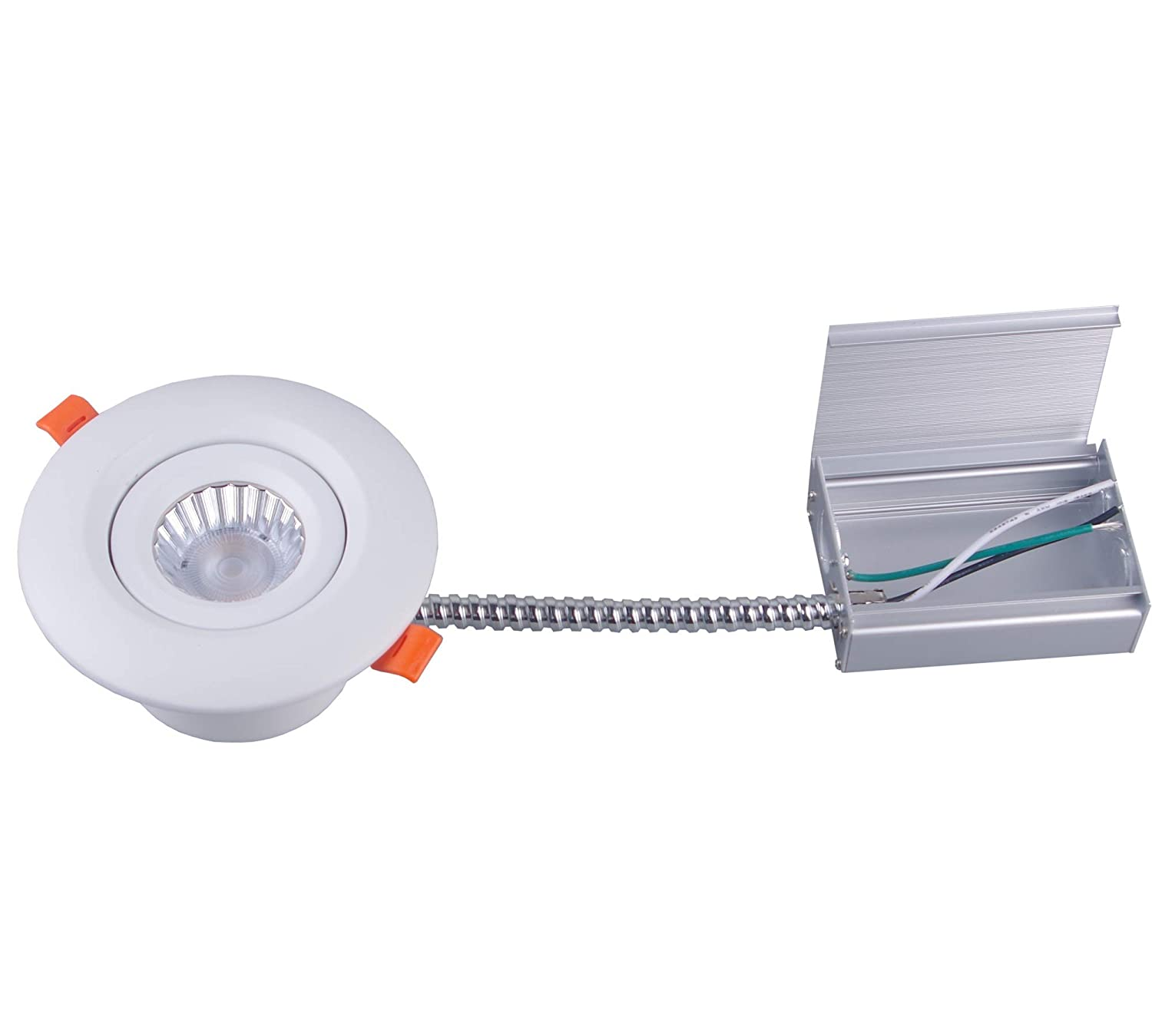Pot Light 3.5 inch Led 9W, Metal Wiring Protection, Perfect for Kitchen, No housing Required, Insulation Contact Approved, Can be Installed Retrofit or New Construction (5000K Cool White)