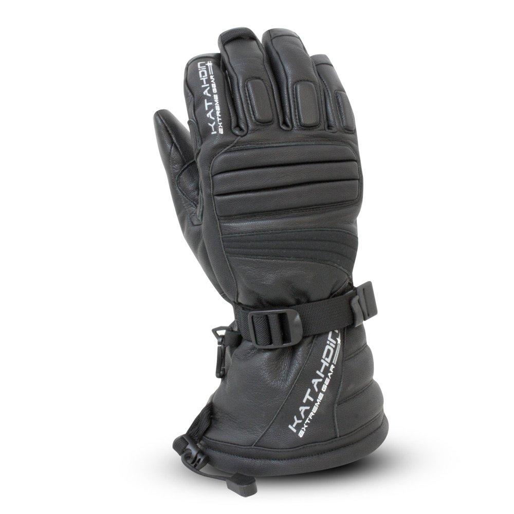 Katahdin Torque Mens Leather Snowmobile Gloves Black XL