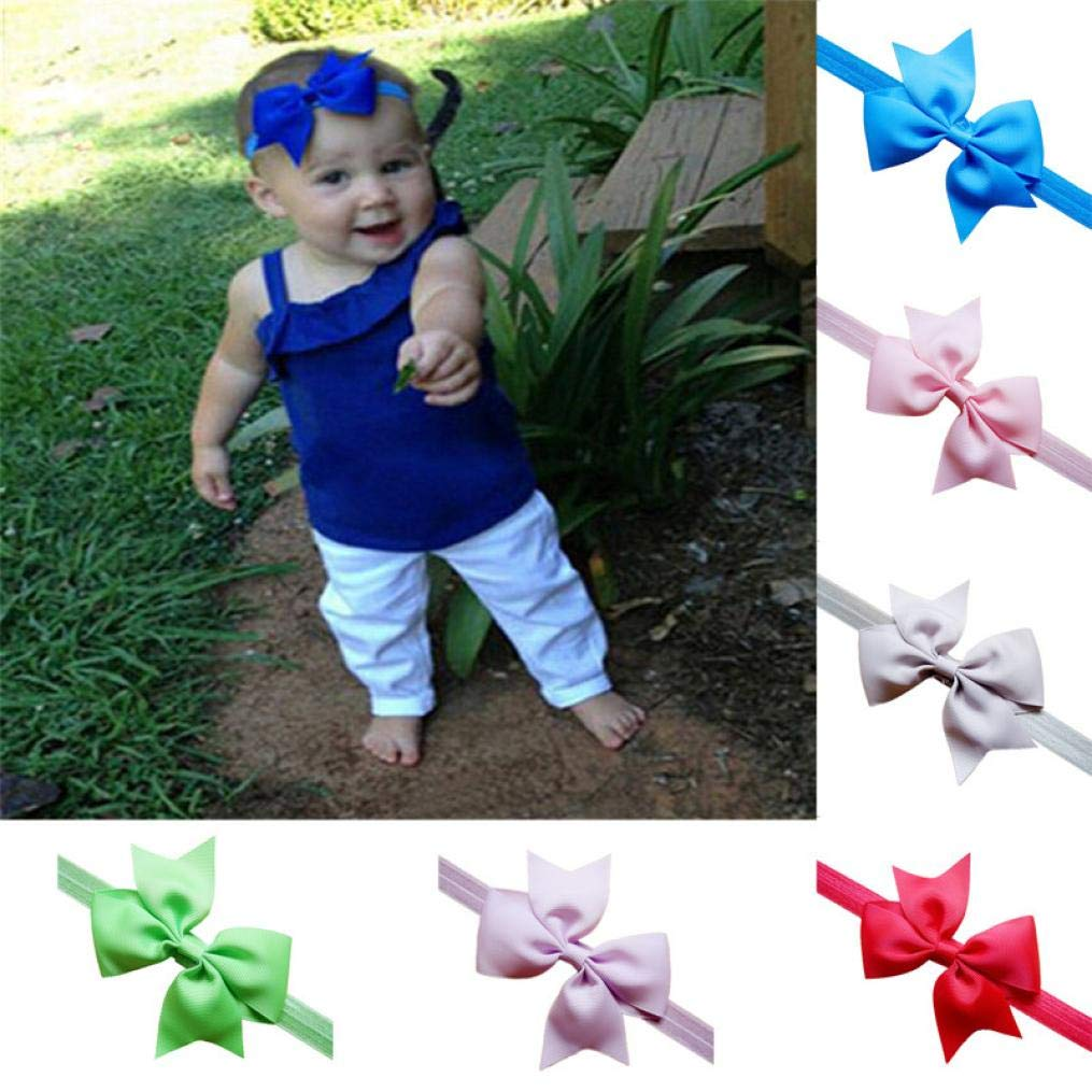 sunnymi Baby Child Girl Headband Toddler Bow Style New and Nice Design Hair Band Accessories Headwear Lilac