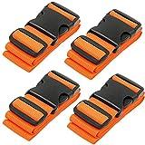 Automotive : BlueCosto Luggage Strap Suitcase Straps Belts Travel Accessories, 4-Pack, Orange