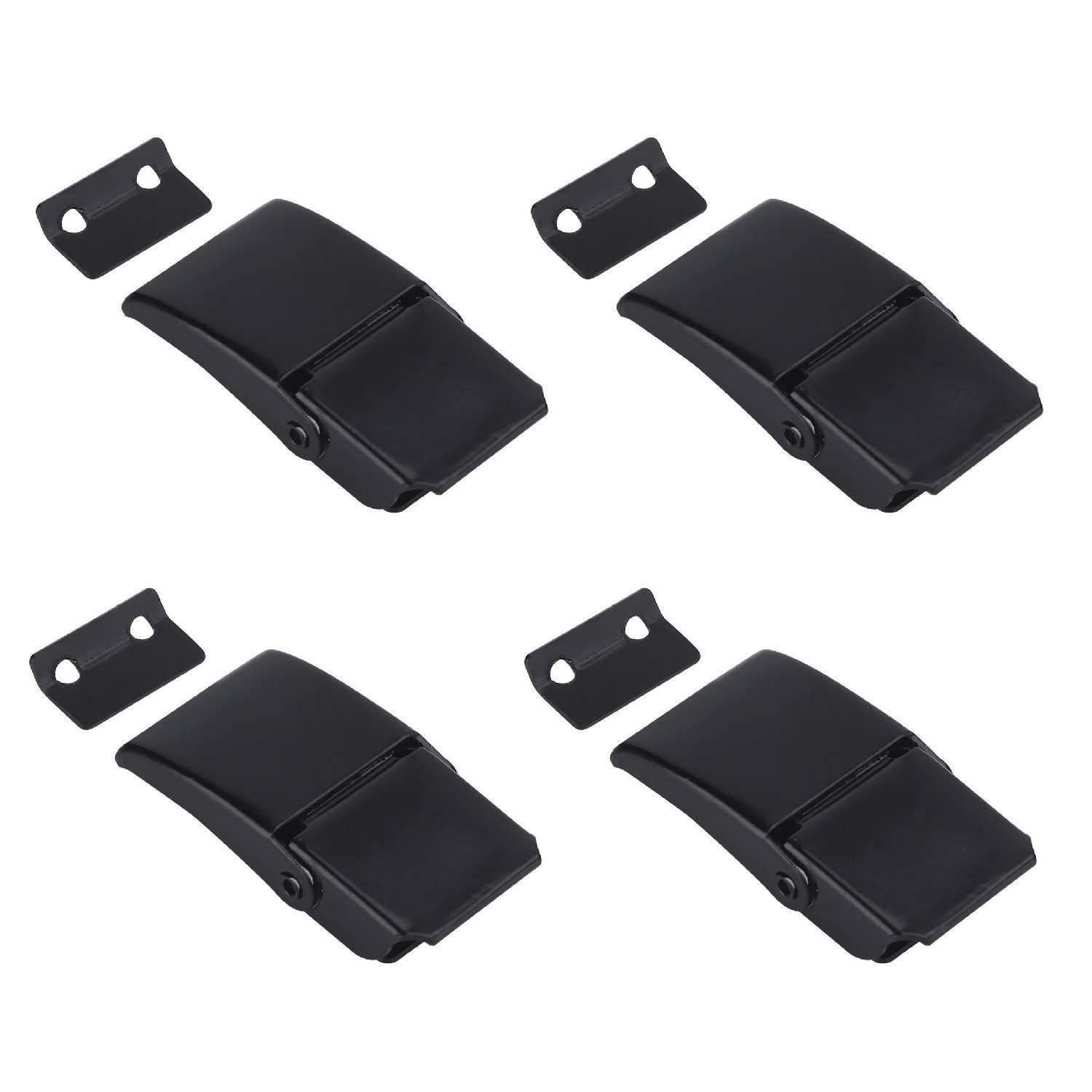 Creatyi 4 PCS A27 Black Concealed Toggle Latch Clamp for Case, Toolbox,Cleaner