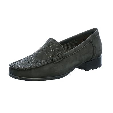 615c3d8513ac21 Jenny by Ara Atlanta, Mocassins (Loafers) Femme - Noir - Nubuck Gris ...