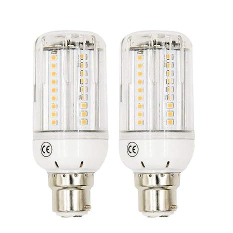 LuxVista 11W B22 Luz de Maíz LED Bombilla con Sensor de Movimiento para Escaleras, Puerta