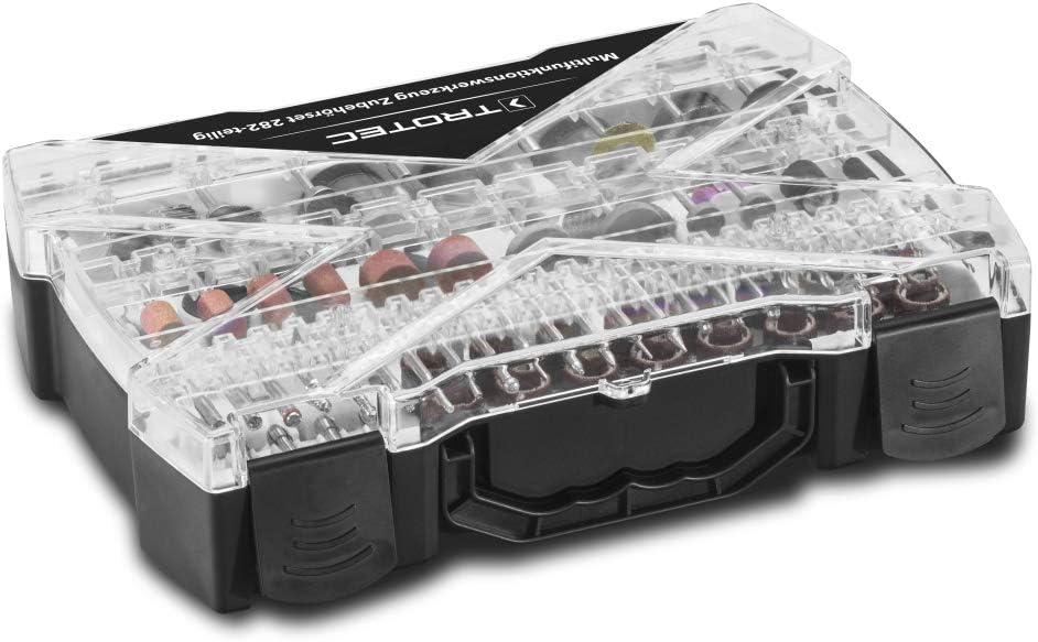 Transportkoffer und Zubeh/ör-Aufbewahrungsbox TROTEC Multifunktionswerkzeug PMTS 01-230V 170W Motor 6-stufige Drehzahlvorwahl 85-teiliges Zubeh/örset inkl