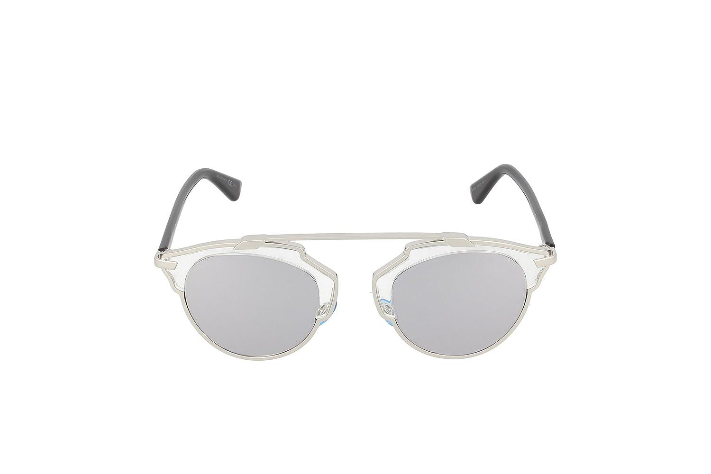 e2864e53e7 Amazon.com  Dior Women DIOR SOREAL S 48 Clear Silver Sunglasses 48mm  Christian  Dior  Clothing