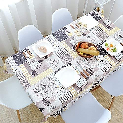 Eeayyygch Wasserdichte PVC-Anti-Öl und Anti-Hot Tischdecken rechteckig müssen Nicht Tischmatten, Coffee Shop Pattern135  180Cm (Farbe   Wie Gezeigt, Größe   EinheitsGröße)