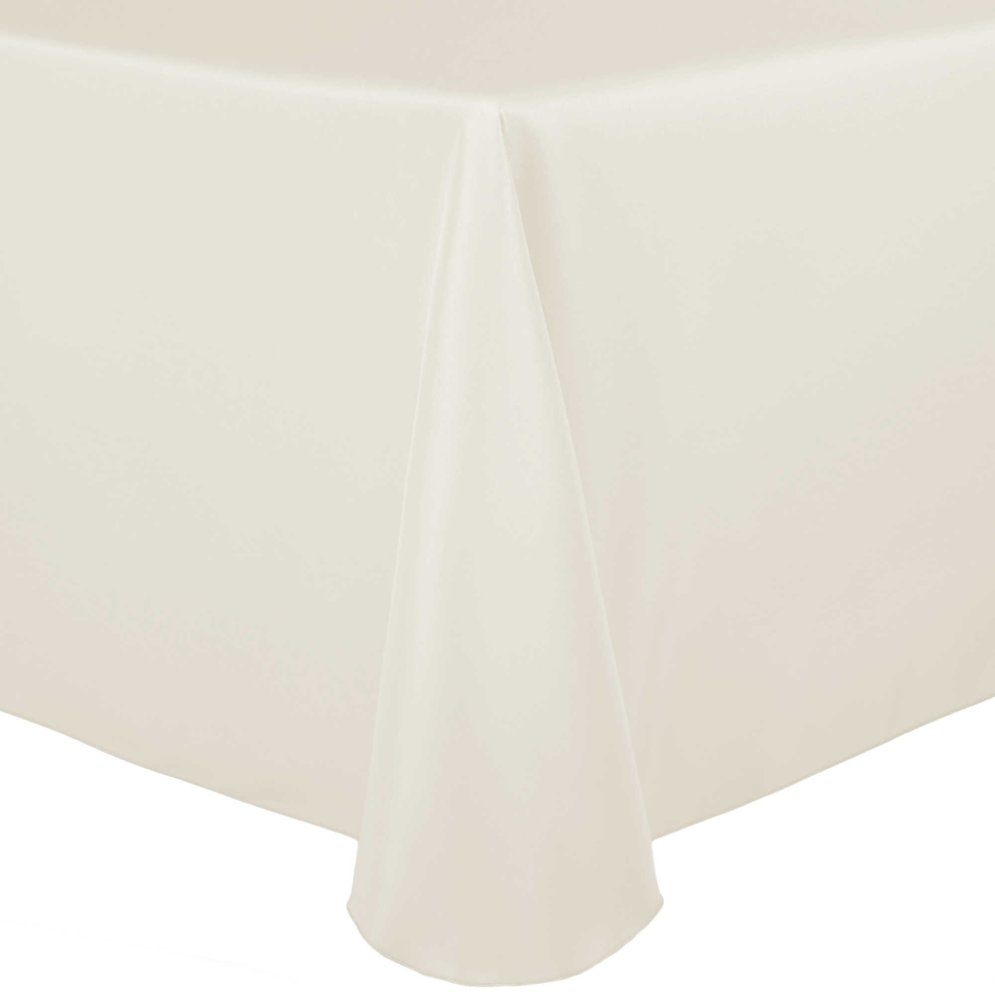 Ultimate Textile (5 Pack) 90 x 132-Inch Rectangular Polyester Linen Tablecloth with Rounded Corners - for Wedding, Restaurant or Banquet use, Ivory Cream by Ultimate Textile (Image #3)