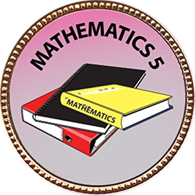 "Mathematics 5 Award, 1 inch dia Gold Pin ""Scholarship Studies Collection"" by Keepsake Awards: Toys & Games"