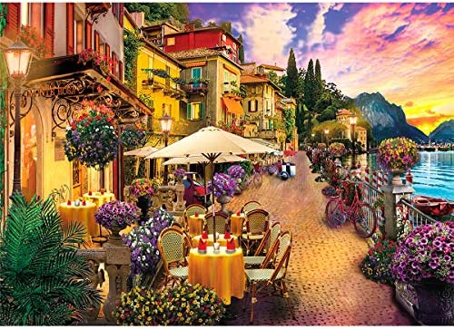 Jigsaw Puzzles for Adults 1000 Piece Puzzle for Adults 1000 Pieces Puzzle 1000 Pieces Italy Lake Como Small Town